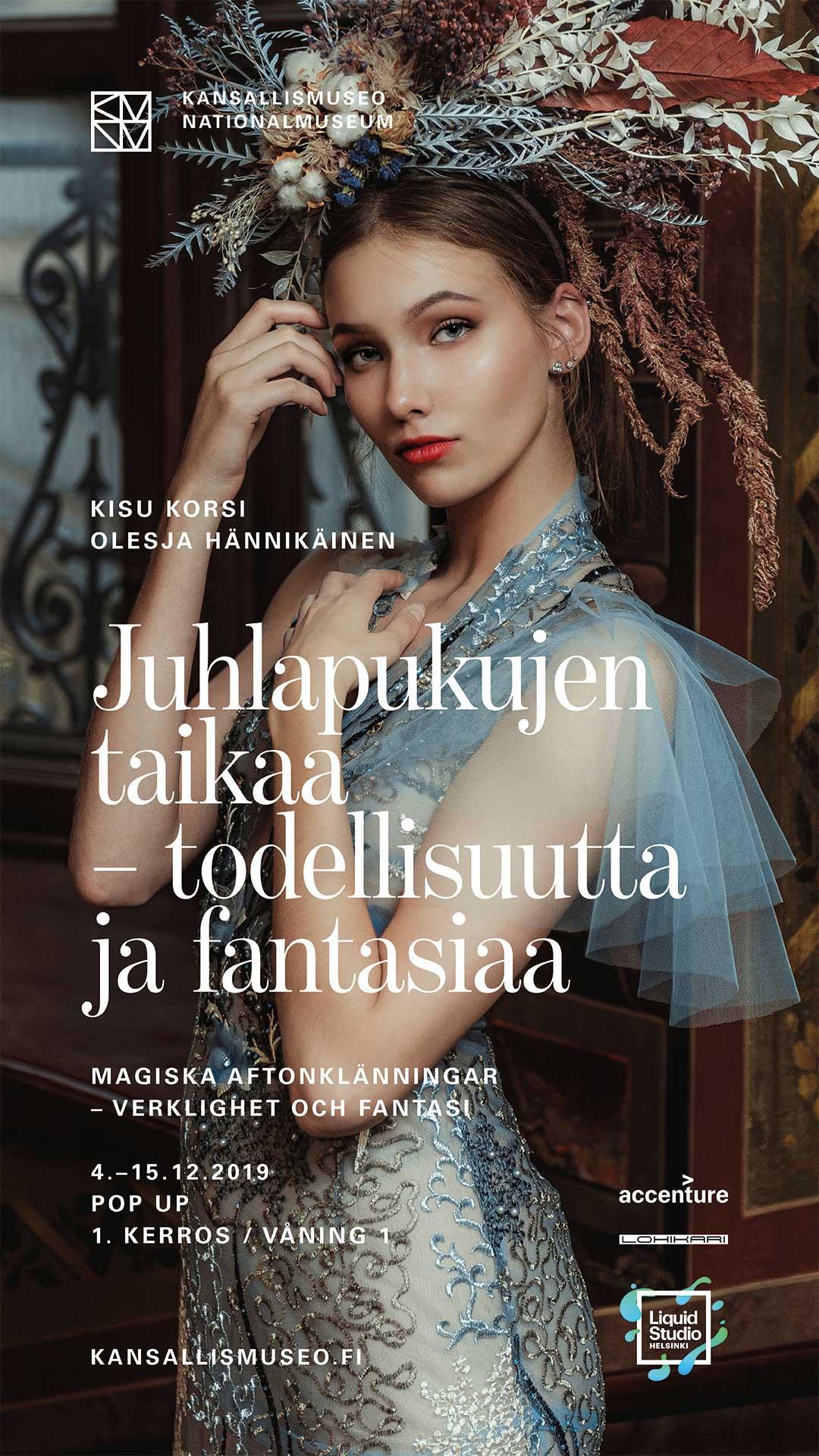 Kisu Korsin couture -pukunäyttely & Olesja Hännikäisen VR-muotikuvitukset  Kansallismuseossa 4.-15.12.2019